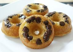 Baked Donuts! I like the chocolate chip idea, rather than always putting icing on top. Great for the kids!!!