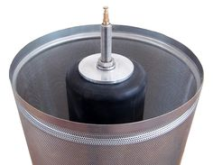 Stainless Hydropress 21 Gallon -- As simple as it is effective, the hydropress consists principally of two parts: An outer, perforated stainless steel basket and an expandable inner rubber bladder. With the turn of a ball valve, the heavy duty rubber bladder expands and juice starts flowing through the perforations of the basket. #pleasanthillgrain