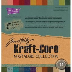 Tim Holtz® Kraft-Core™ Paper Pack - Nostalgic - 12 x 12 - 24 sheets