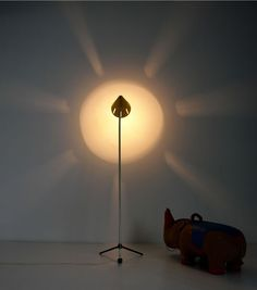 BUSQUET HALA ZEIST INDUSTRIAL FLOOR LAMP stehleuchte 50er jahre