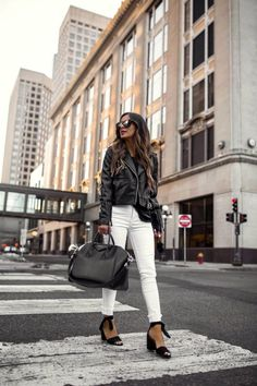 195850ff1ff7c6 Stylish Alternatives to High Heels When Comfort is Key {Blogger MiaMiaMine  wearing leather jacket and
