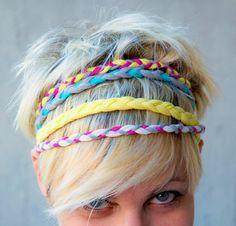 Braided headbands, cute headbands, diy headband, headbands for short hair. Diy 2019, Jersey Headband, Diy Headband, Braided Headbands, Handmade Headbands, Hippie Headbands, Braided Hair, Do It Yourself Jewelry, Diy Accessoires