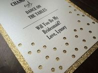 Will You Be My Bridesmaid Invitation,  Glitter Invitations, Champagne Bubbles, Bubbly