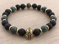 Men's Bracelet, Apatite Bracelet, Lava Bracelet, Manifestation Bracelet, Yoga Bracelet, Gladiator Bracelet, Mala Bracelet, Boho Bracelet by CrystaliciousDesigns on Etsy