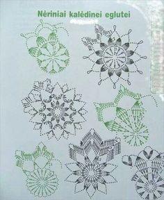 "Photo from album ""Снежинки"" on Yandex.Disk - Her Crochet Crochet Snowflake Pattern, Crochet Motif Patterns, Christmas Crochet Patterns, Crochet Snowflakes, Hdc Crochet, Crochet Ball, Crochet Chart, Crochet Christmas Decorations, Crochet Ornaments"