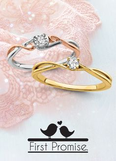 The rest of your lives begin with a First Promise®! Check out our collection of promise rings here: #QualityGold #Trending #WeddingTrends #PromiseRings #EngagementRing