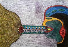 Sangkan Paraning Dumadi / Alpha Omega.Mix Media On Paper, 30 cm X 42 cm, 2013