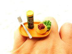 Miniature Food Rings: What would You Like to Wear Today a Donut or Cup of Coffee