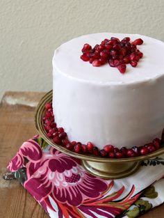 Pomegranate Cake Recipe on The Little Epicurean at http://www.thelittleepicurean.com/2013/05/pomegranate-cake.html