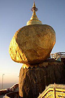 Here see the most beautiful Place #KyaiktiyoPagoda Golden Rock in #MonState, #Myanmar with myanmar trip !!
