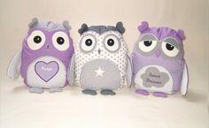 Organic Owl Owl Pillow Stuffed Animal  Softie by Customquiltsbyeva, $40.00