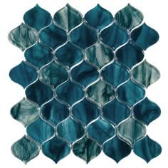 Marina Del Ray Arabesque Glass Mosaic