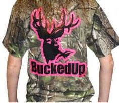 Bucked Up Realtree Camouflage Short Sleeve Pink   Country Bling