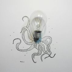 "239 Likes, 14 Comments - Art McArov (@art_mcarov) on Instagram: ""octopus who has an idea. #sketch #objectart #art #artwork #artist #artsy #arts_help #picame…"""