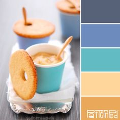 Dessert #patternpod #patternpodcolor #color #colorpalettes Cute Food, Good Food, Yummy Food, Yummy Treats, Sweet Treats, Cookie Recipes, Dessert Recipes, Snacks, Buffets
