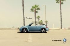 The latest print ad from Volkswagen is genious. It shows a Volkswagen Beetle Cabrio, with the roof censored. Creative Advertising, Ads Creative, Print Advertising, Advertising Campaign, Marketing And Advertising, Guerrilla Marketing, Street Marketing, Marketing Tools, Digital Marketing