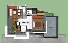 A three-bedroom house is an ideal size for many families not only because of the space that it provides but also for the privacy and comfortability that it comes with. It is an ideal size [. Modern Exterior House Designs, Modern House Plans, Two Story House Plans, Architectural House Plans, Three Bedroom House, Two Storey House, Home Goods, Bedrooms, Floor Plans