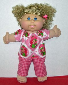 Cabbage Patch Doll Clothes Strawberry Shortcake by Dakocreations, $13.99