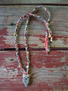 liberty and a holey stone : a tutorial for making a necklace