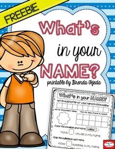 FREEBIE: Name Activity Printable- 3 versions