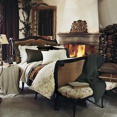 """Ralph Lauren Home Archives, """"St Germain"""" Bedroom. Love everything about this room. Home Bedroom, Bedroom Decor, Dream Bedroom, Design Bedroom, Grande Hotel, Beautiful Bedrooms, Home Collections, House Design, Interior Design"""