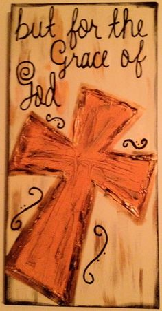 But For the Grace of God Textured Cross Canvas by ClassyCanvas. $42.00, via Etsy.