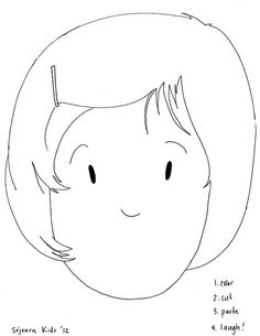 Girl and Boy Outline Printable | little boy template | art ...