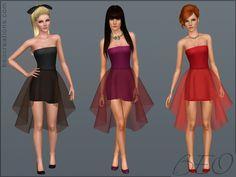 BEO CREATIONS: Mini dress with sheer skirt