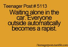lol so true, I always automatically lock the doors 'cause it's better to be safe than sorry!