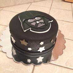 Star Wars cake / Darth Vader cake by www.AmbersLittleCupcakery.com