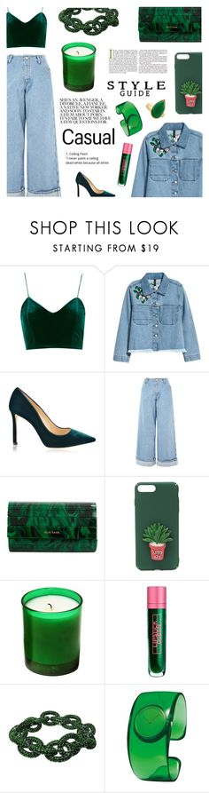 """Un-hot summer without u."" by sugaplump ❤ liked on Polyvore featuring H&M, Jimmy Choo, Topshop, Elie Saab, The Webster, Lipstick Queen, Plukka, Issey Miyake, Ippolita and Summer"
