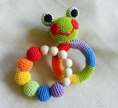 SET aus 2 häkeln Baby-Spielzeug Regenbogen zu greifen und