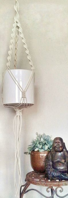 Macrame pot hanger . FisherKing