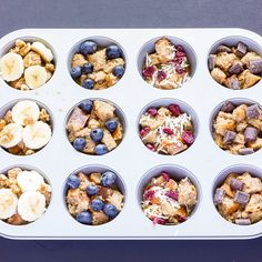 French Toast Cups with your Favorite Toppings