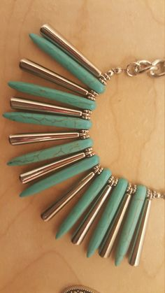 Vintage Turquoise and Silver Neckalace by NeeNeeWorld on Etsy