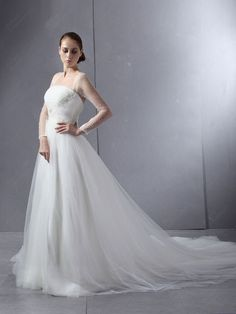 wedding dress, without the sleves