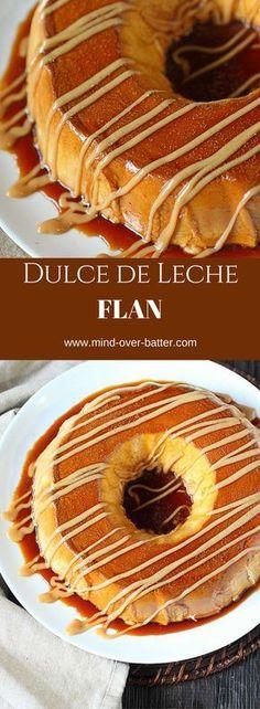 Flan, the Latino version of custard con más sabor!…