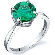 Revoni Damen 1.75 Karat Smaragd Ring 925 Sterlingsilber mit Rhodium Politur Revoni, http://www.amazon.de/dp/B00A3C6S88/ref=cm_sw_r_pi_dp_-RFbtb1FK2ZH1
