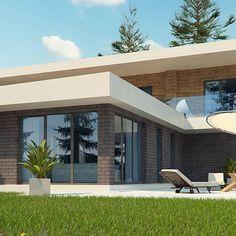 Zx70 to wyjątkowy dom z kategorii projekty domów z dachem płaskim Pergola, Outdoor Structures, Outdoor Decor, Home Decor, Building Homes, Home, Projects, Decoration Home, Room Decor