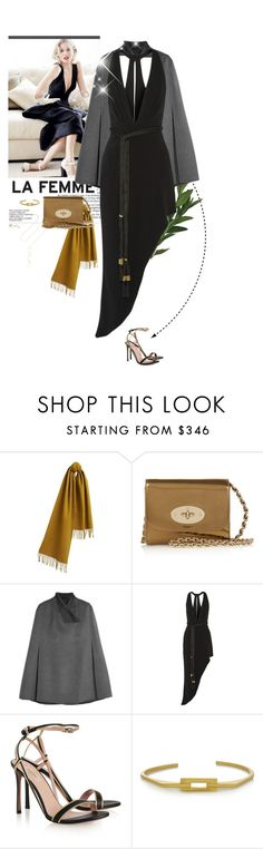 """""""Friday Night Lights"""" by likepolyfathion ❤ liked on Polyvore featuring moda, Burberry, Mulberry, Joseph, Haney, Valentino, Maria Black, Melissa Joy Manning y scarf"""