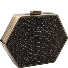 House of Harlow Zola Snake Metal Edge Minaudiere