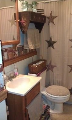 I would do it with shabby chic colors Bathroom Decor