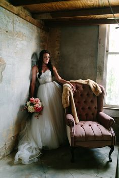 A boutique style wedding venue in downtown Buda, Texas. Carrington Crossing is one of my favorite Texas venues to photograph at and Kelcie was truly stunning.  See more here: http://www.algawlikphotography.com