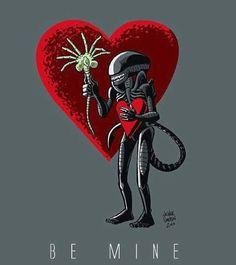 alien xenomorph valentine's day.