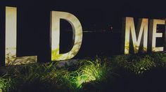 Lead Me #sign #night #park #minneapolis #letters #riddle