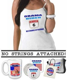 """$34.35 Custom Design by P.K. Wells, available in a variety of colors & styles. Support your President with an original custom design! """"No Strings Attached"""" SayNoLess offers t-shirts, mugs, stickers, buttons, bumper stickers, mousepads, ipad cases, commemorative plates, posters, plaques, and much more to show support for President Obama. Sold through Zazzle, the leading online provider for original, made-on-demand apparel. #obama #election #reelection #politics #apparel #tshirts"""