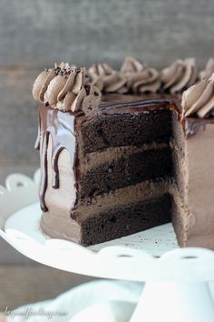 This Chocolate Mudslide Cake is what dreams are made of. The decadent chocolate…