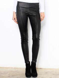 Theory Miana Danish Leather Leggings