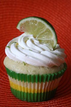 margarita cupcakes with tequila lime meringue buttercream frosting! Perfect for a Cinco de Mayo party or Mexican themed dinner party.