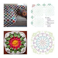 Crochet Granny Blanket - Tutorial ❥ 4U // hf